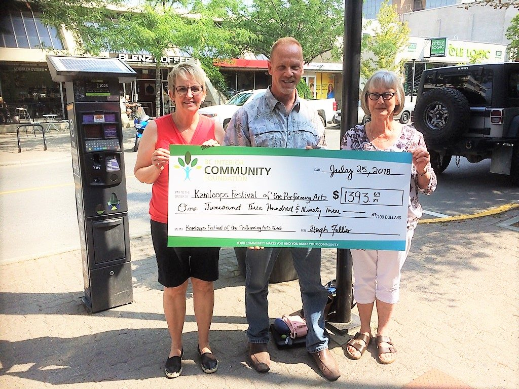 Kamloops Festival of the Performing Arts - Cheque Presentation