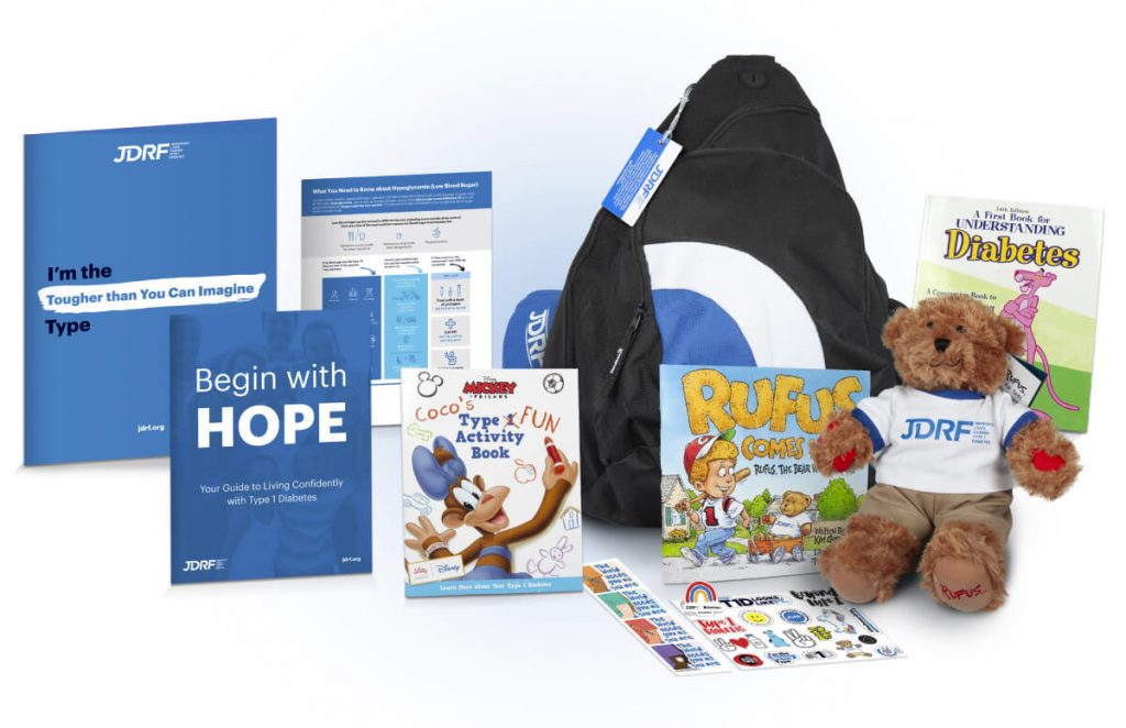Juvenile Diabetes Research Foundation bag of hope contents
