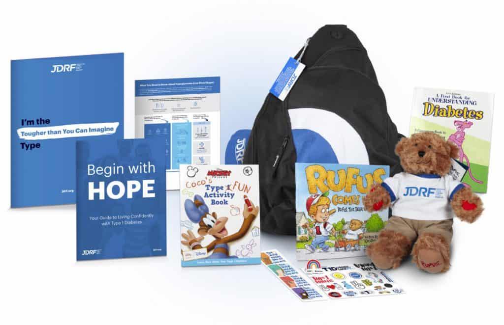 Juvenile Diabetes Research Foundation bag of hope contents
